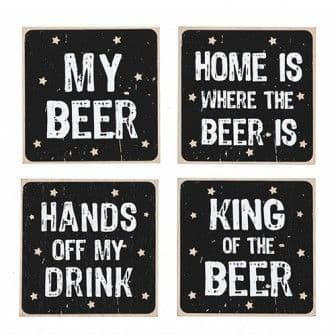 Beer Motif Coasters (set of 4)